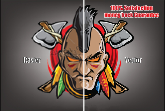 I will vectorize, redraw, redesign,  Convert To Vector