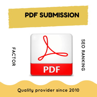 boost your SEO Ranking with 20 PDF Submission