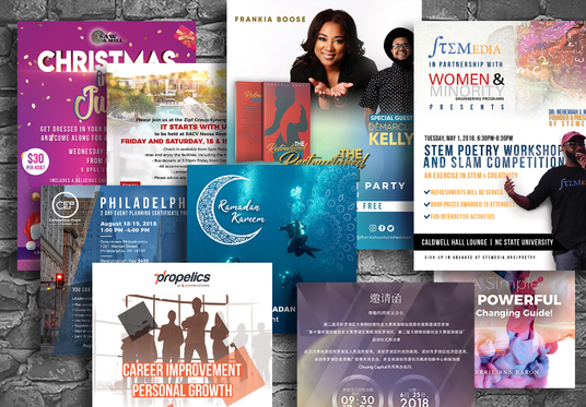 I will Design Business and Event Flyer, Postcard, Poster, Leaflet, Brochure