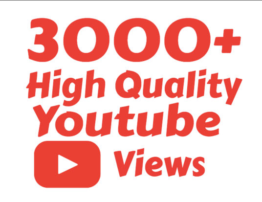 I will add 3000 youtube views likes