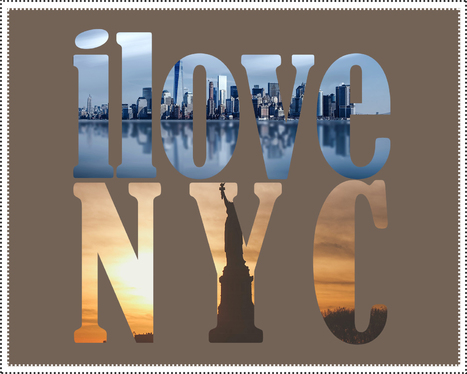 create an I LOVE typography post with your pics and wording or even your logo