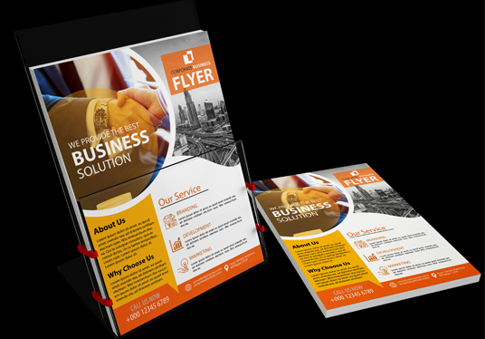 I will design eye catching & Modern  flyer, poster brochure for you