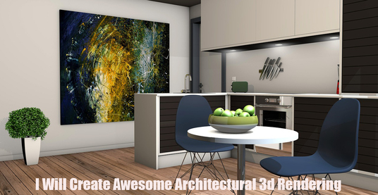 I will Create Awesome Architectural 3d Rendering