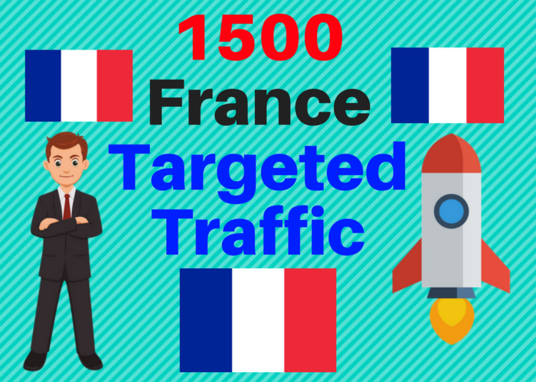 I will Send 1500 FRANCE TARGETED traffic adsense safe