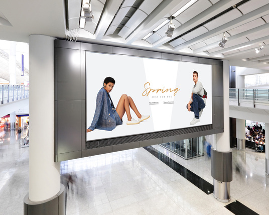 I will put your Design, Picture or Logo on HD Digital Billboard, Bus stop and Screen in a realist