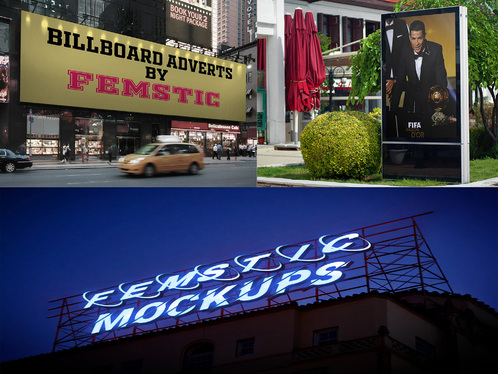 put your Design, Picture or Logo on HD Digital Billboard, Bus stop and Screen in a realistic way