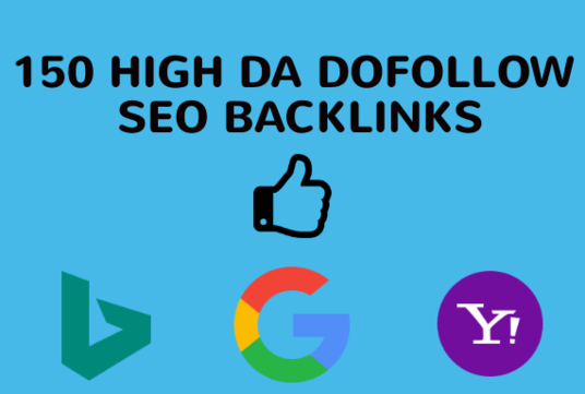 I will Create 150 High DA SEO Dofollow Backlinks