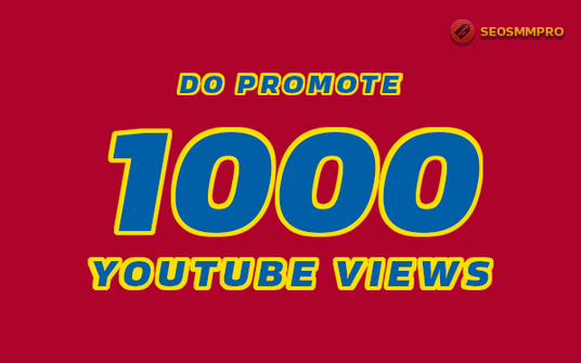I will Promote 1000 YouTube Views