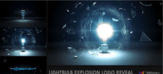 Make Light Bulb Explosion Logo Intro Video