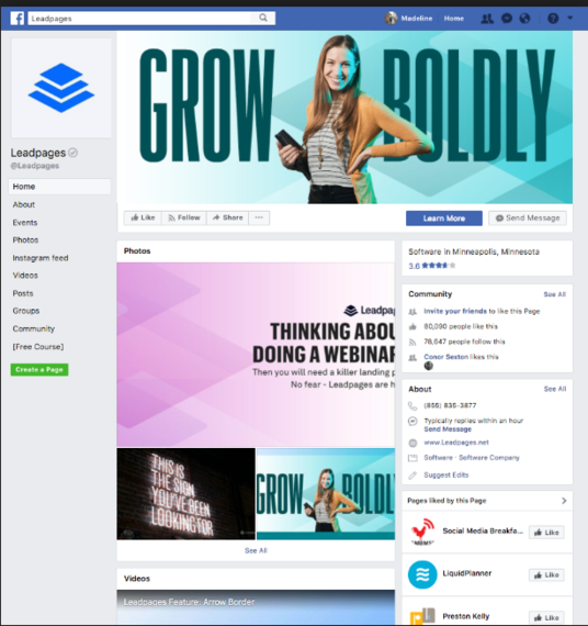 I will Create A Facebook Landing Page