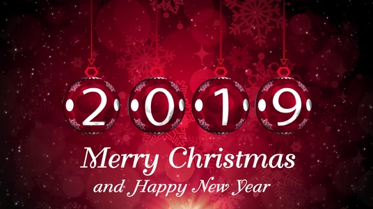 Design christmas and New year greeting video
