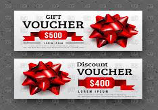 Design Gift Vouchers and web banner