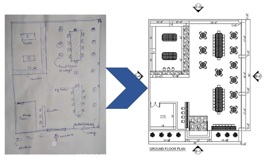 I will Redraw any Image, Pdf,Hand Sketch in 2d-Autocad Drawing in 24 Hrs