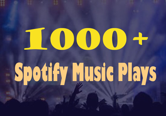 I will Provide 1000+ Spotify Music plays