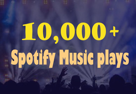 I will Provide 10,000+ Spotify Music plays