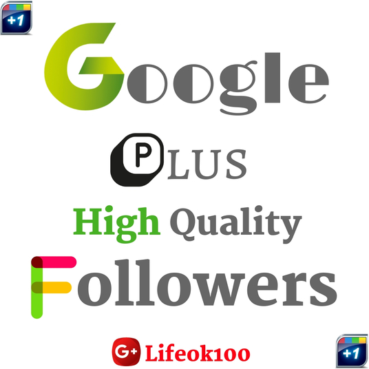 I will provide you 500 google plus real high quality followers/circles