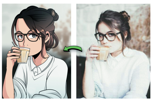 I will Draw Your Photo In Anime Cartoon Style