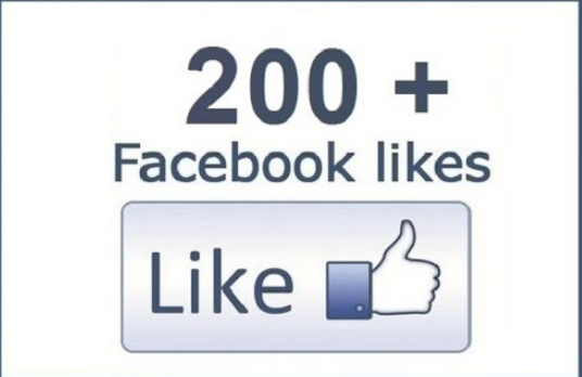 I will give you200+ non drop facebook fanpage likes