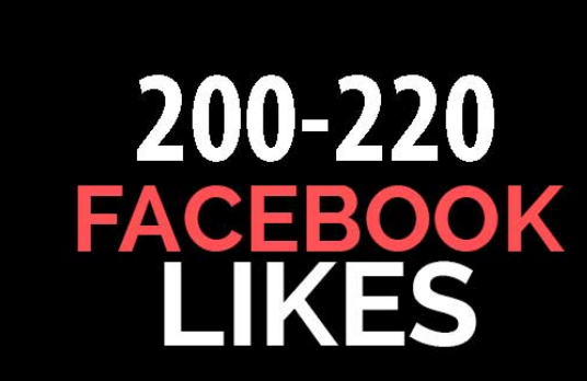 I will Add 200 Plus Real  Facebook Likes