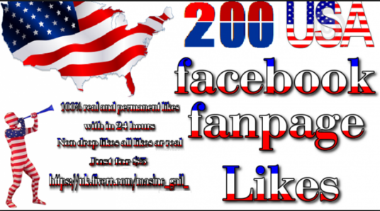 I will add 200 + USA permanent Facebook likes