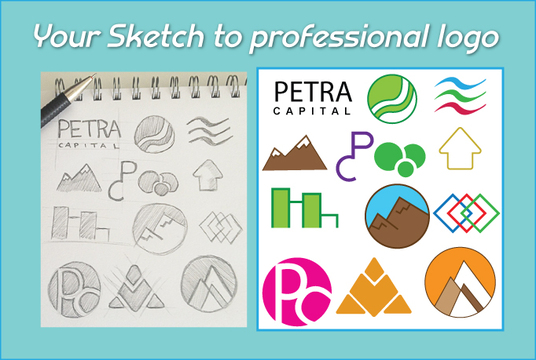I will design logo, icon and vector  form rough sketch for you