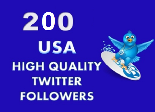 I will  provide you 200 unique Twitter Followers, Permanent Safe