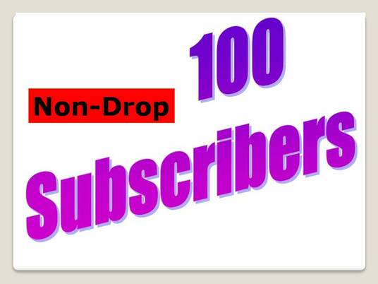 I will add 100 YouTube Non-drop Subscribers with fast delivery