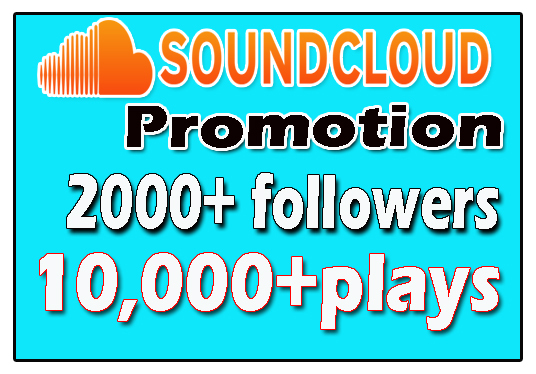 I will do 2000+Sound cloud followers & 10,000 Plays