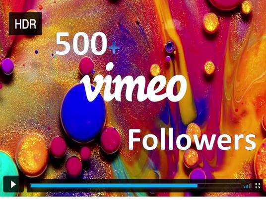 I will provide You 500+ Vimeo Followers