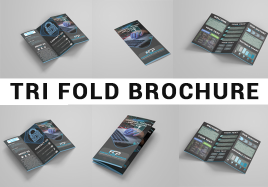 I will Design Awesome Tri-fold, Bi-fold Brochure