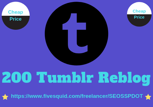 I will provide you unique 200+ tumblr reblogs or likes within 24 hours
