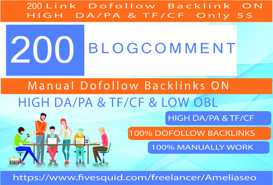 I will Do 200  Blog Comment On High Da Pa Tf Cf And Low Obl