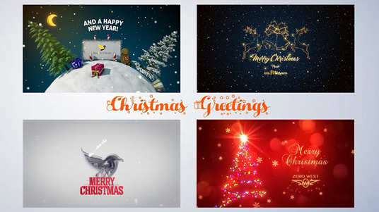 youtube cccccc create awesome christmas new year greetings animation video intro