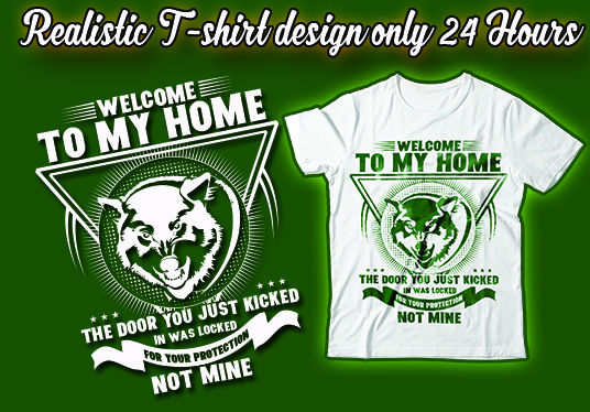 I will create Awesome t-shirt design