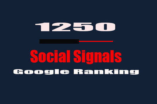 I will Build 1250 High Quality SEO Social Signals