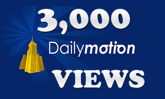 I will Give You 3,000 Dailymotion Views