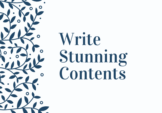 I will Write Stunning Contents For Your Website