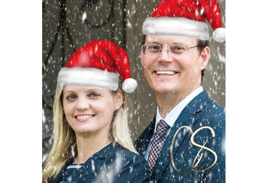 add a santa hat and snow to your logo or photo for christmas