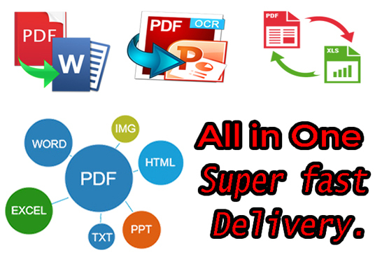 I will convert word to a pdf file or any other file conversion