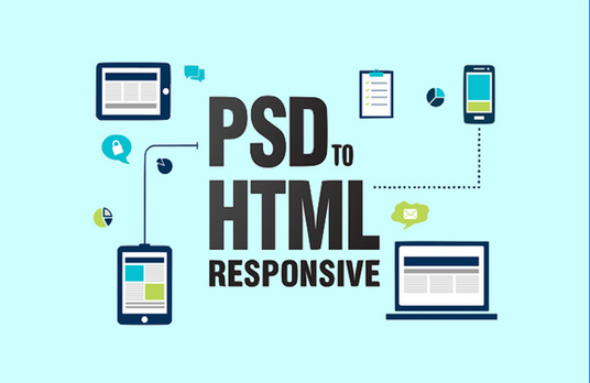 I will convert PSD to html,bootstrap responsive