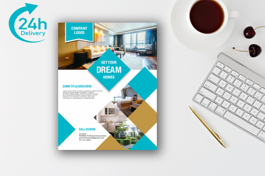 I will design professional real estate flyer