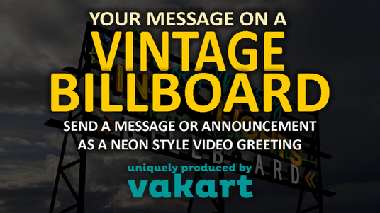 Make A Greeting Video Message On A Vintage Neon Billboard