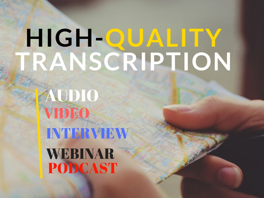 I will Do A Flawless And Fast Audio Video Transcription