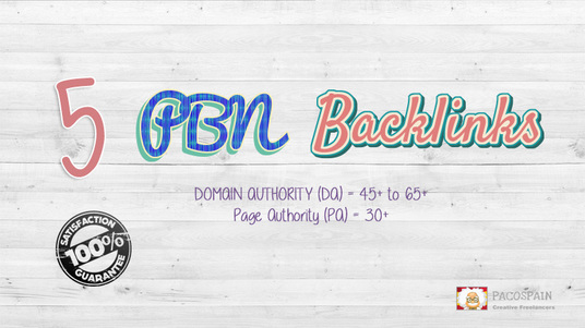 I will create 5 PBN DA 45+ DoFollow Backlinks
