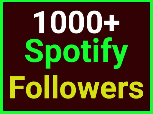provide 1000+  Spotify Followers