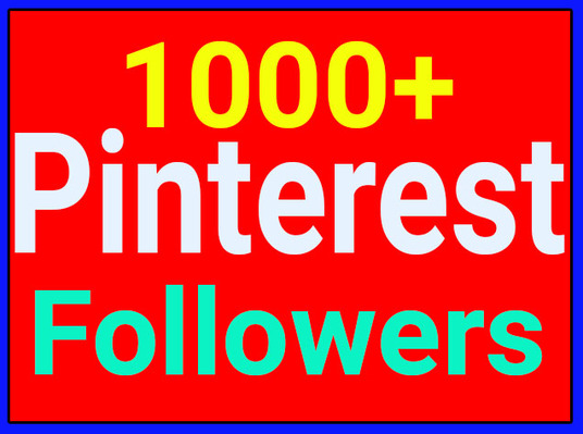 I will Provide 1000+ Pinterest Followers