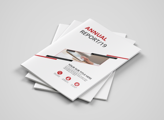 I will design annual report or business proposal