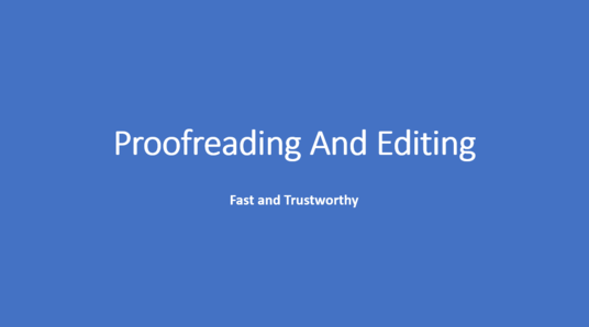 I will proofread and edit up to 1000 words of any English content
