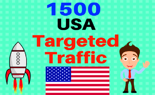 I will Send 1500 USA Targeted Human Traffic To Your Web Or Blog Site