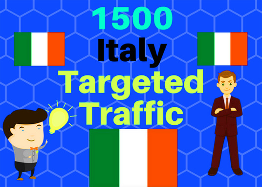 I will Get 1500 Italy Targeted Web Traffic Get Adsense Safe Good Alexa Rank